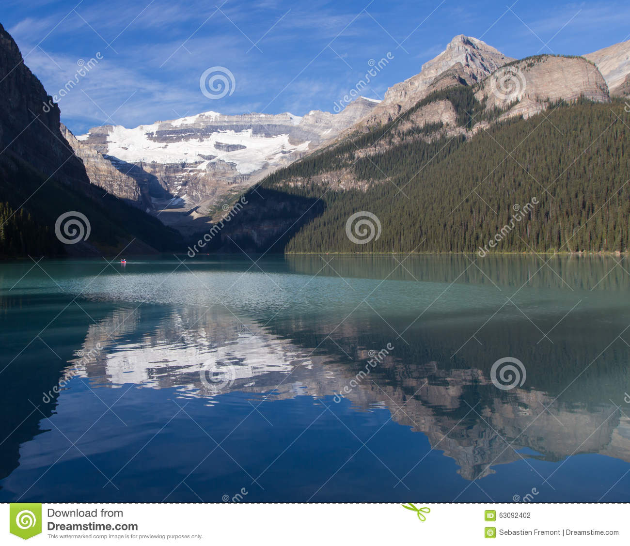 Download Lake Louise en été photo stock. Image du conifére, populaire - 63092402