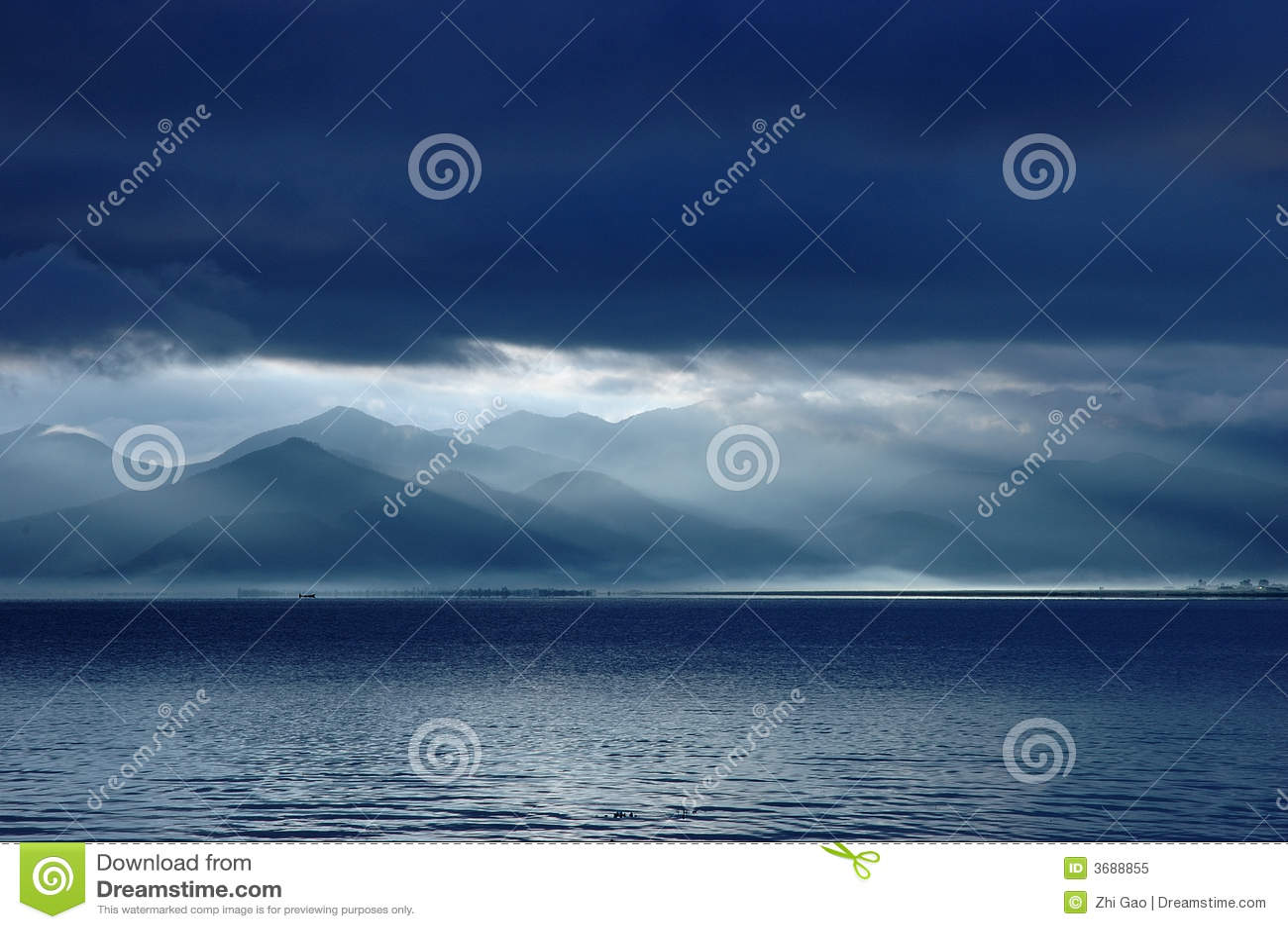 Lake lugu sunrise