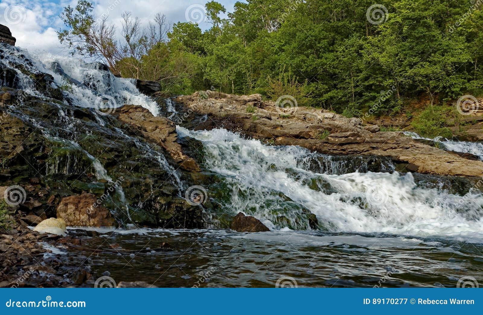 Lake MacBride Waterfall