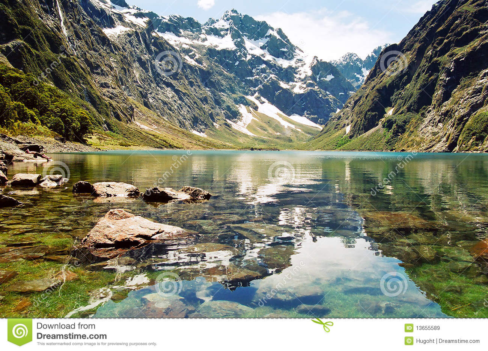 lake marian  new zealand royalty free stock images image hiker clip art free hiker clipart free