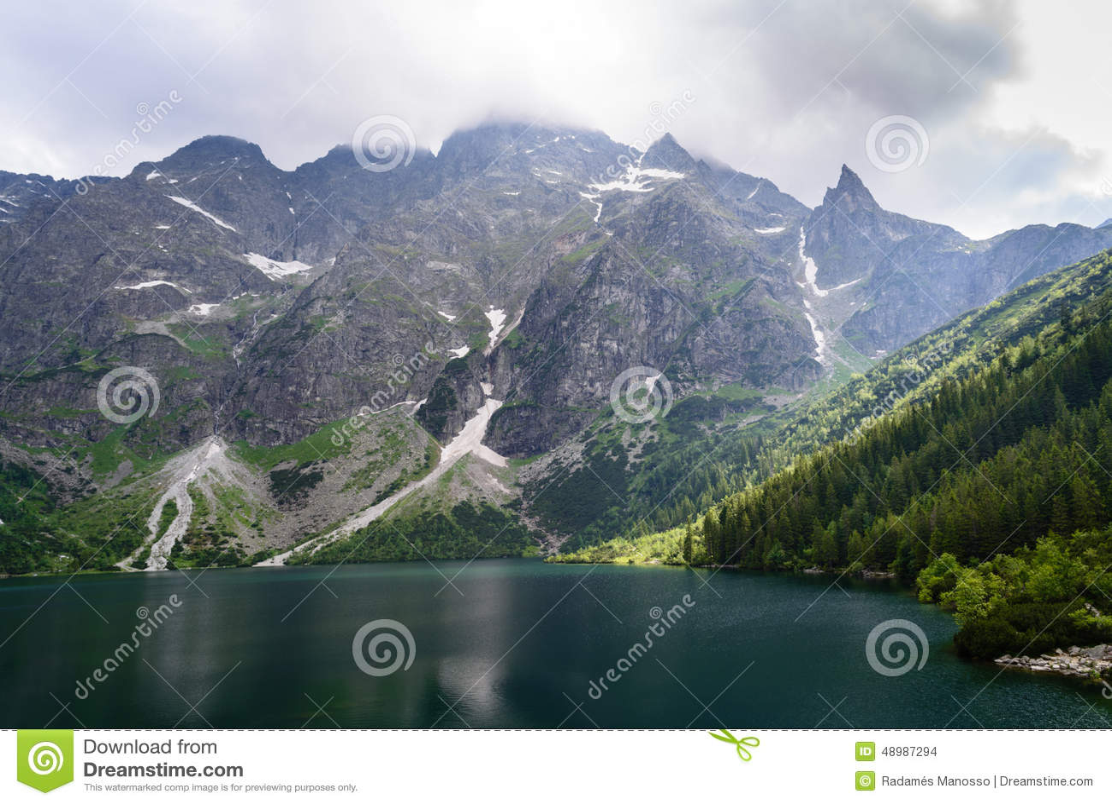 Lake Morskie Oko at Tatra National Park