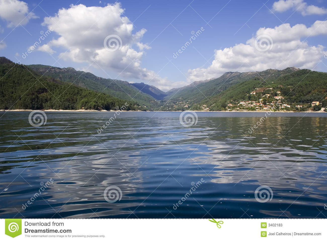 Lake in mountain of Geres, in