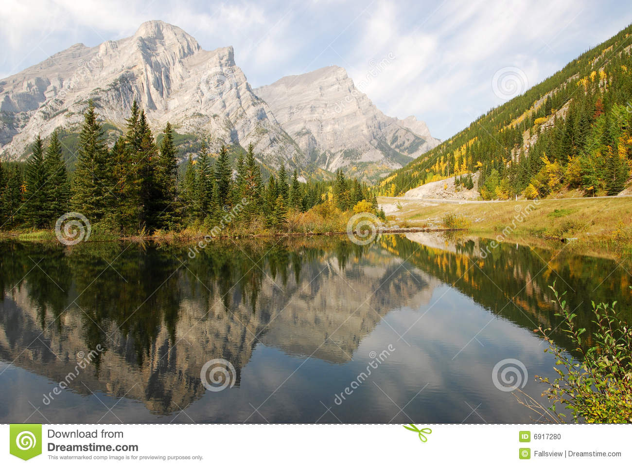Download Lake And Mountain Reflections Stock Photo - Image of peace, autumnal: 6917280