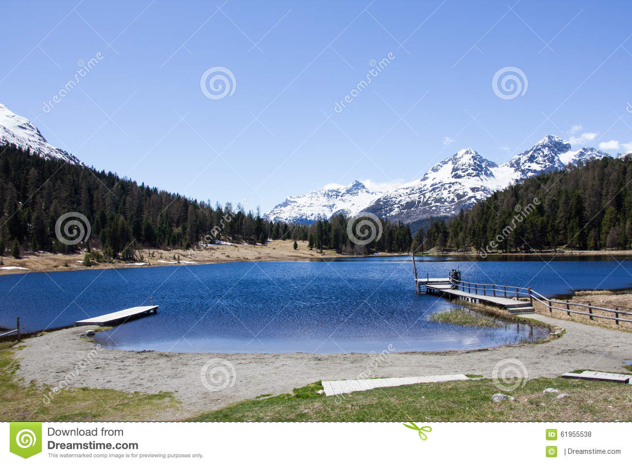 Lake on mountain stock photo image of landscape lake for Lake front view