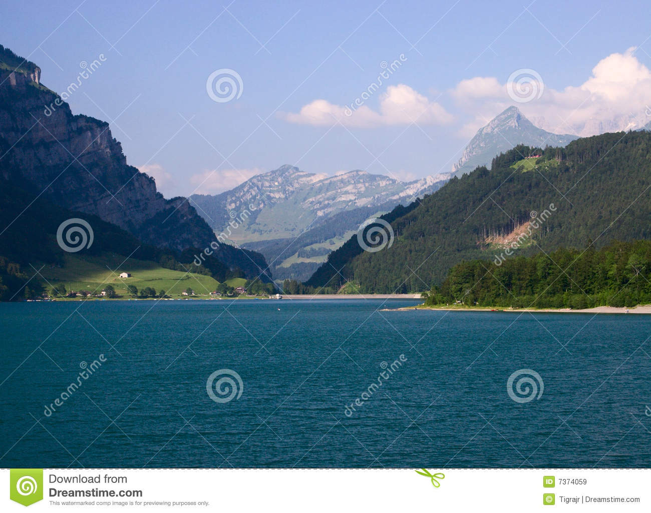 Lake and mountains