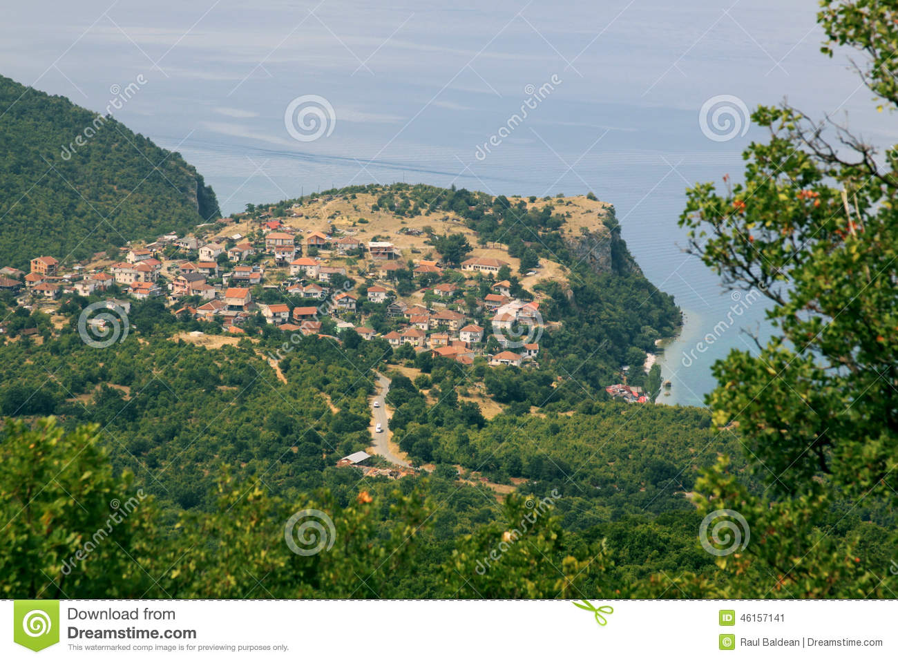 Lake Ohrid and Trpejca view from above