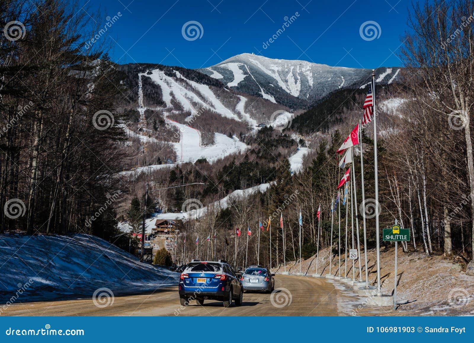 road to whiteface mountain ski resort editorial stock photo - image