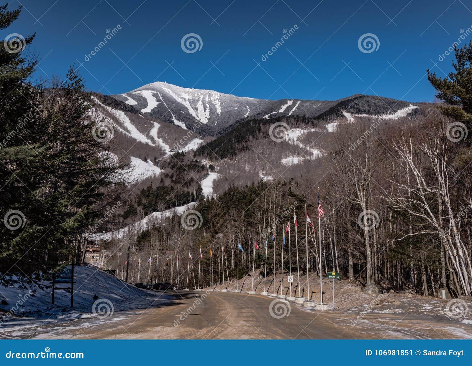 whiteface ski resort - lake placid, ny stock image - image of placid