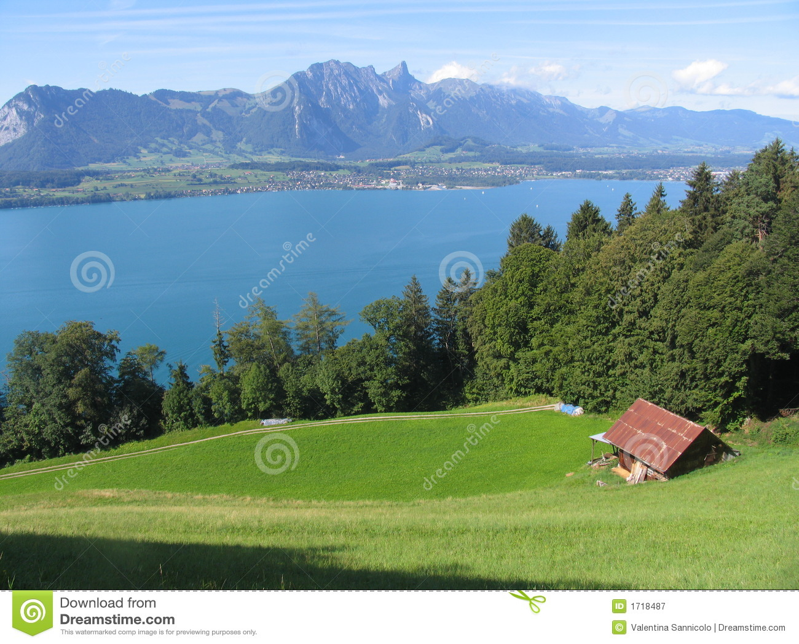 Lake pola thun wody