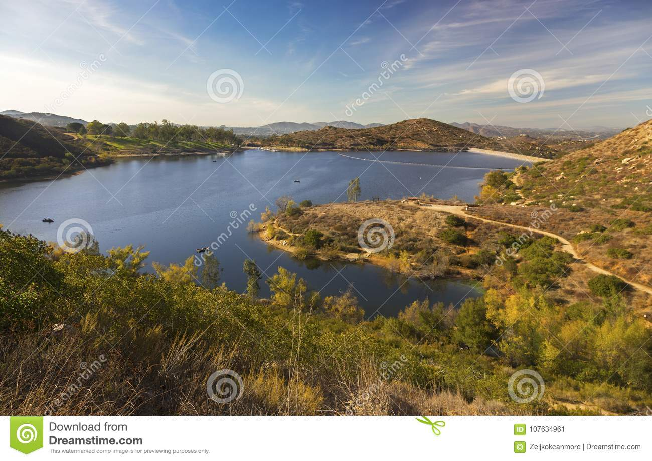 Lake Poway Scenic Landscape San Diego County North