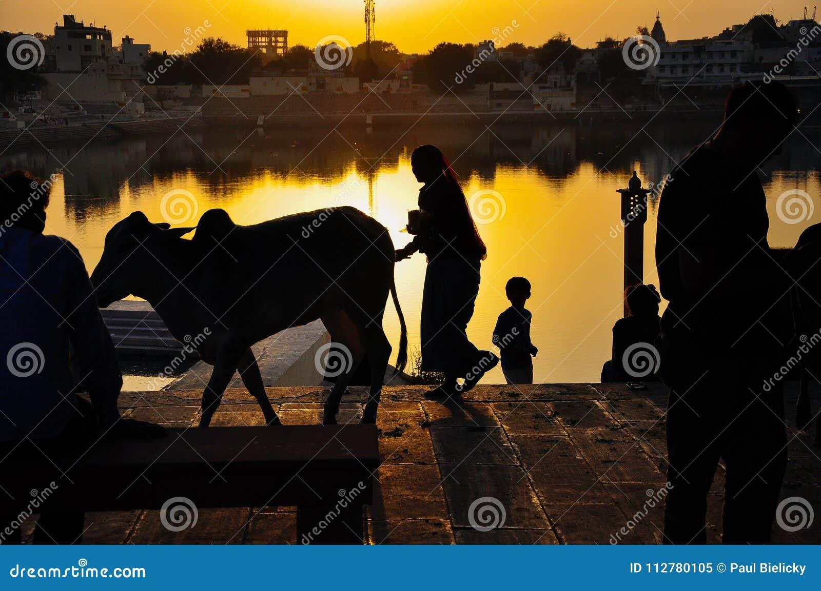 Lake Pushkar in Pushkar, India.
