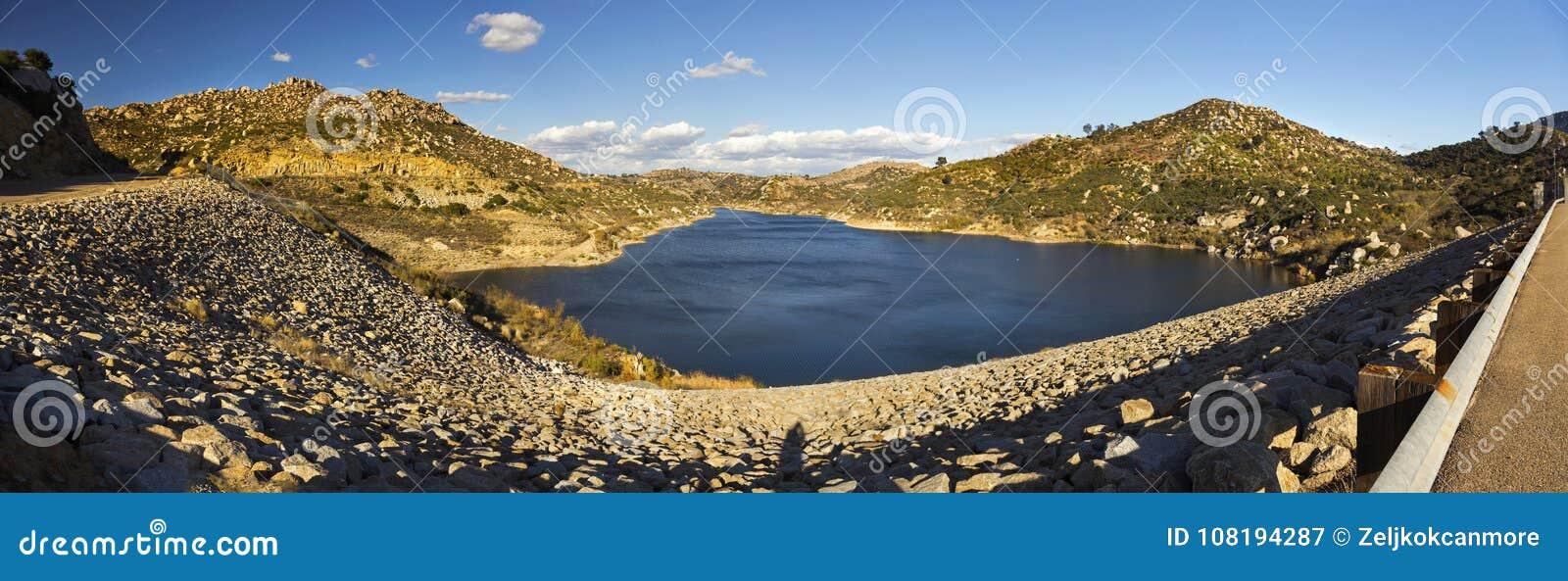 Lake Ramona Panorama Blue Sky Preserve Poway San Diego County Inland