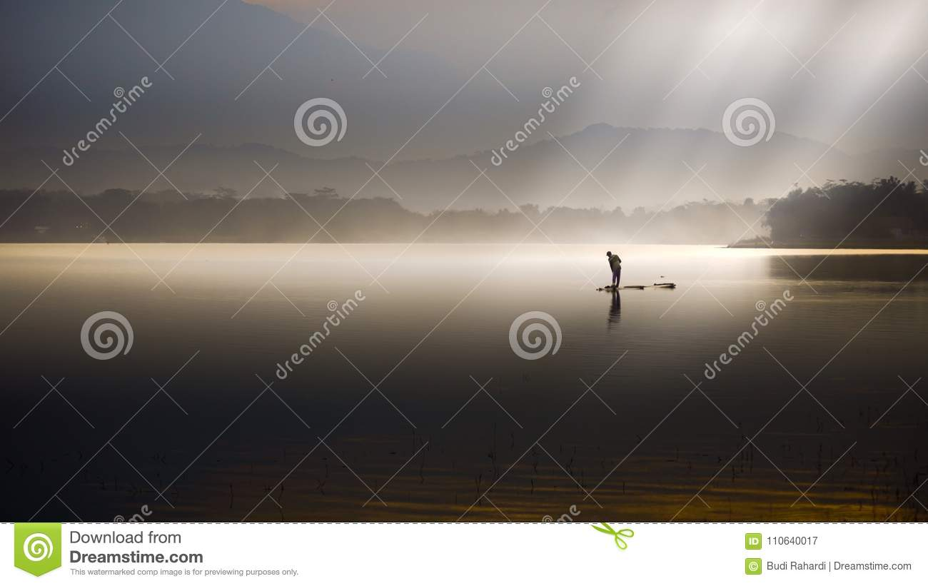 Lake with Ray of light