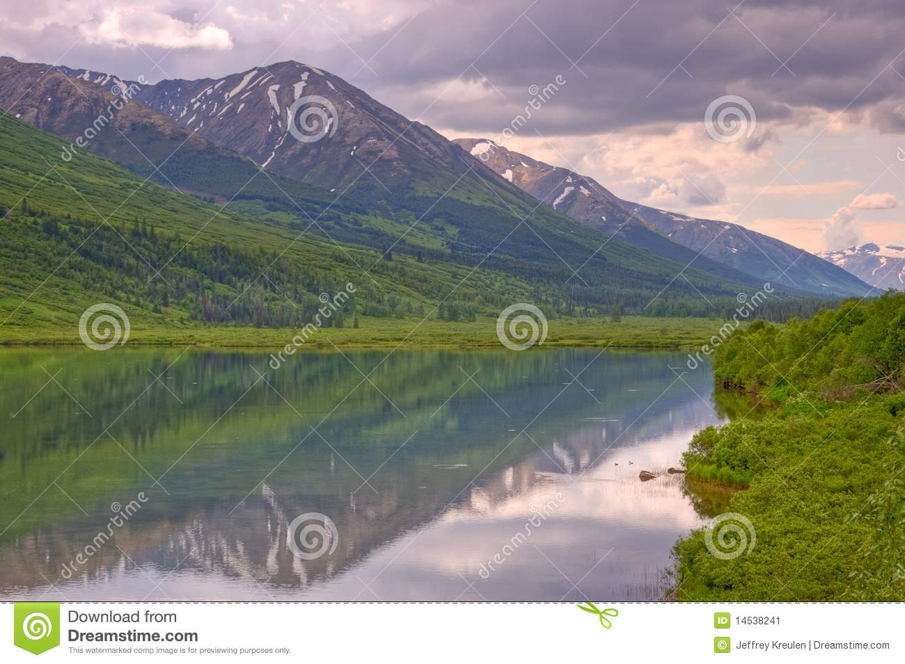 Lake Reflection in Chugach National Forest