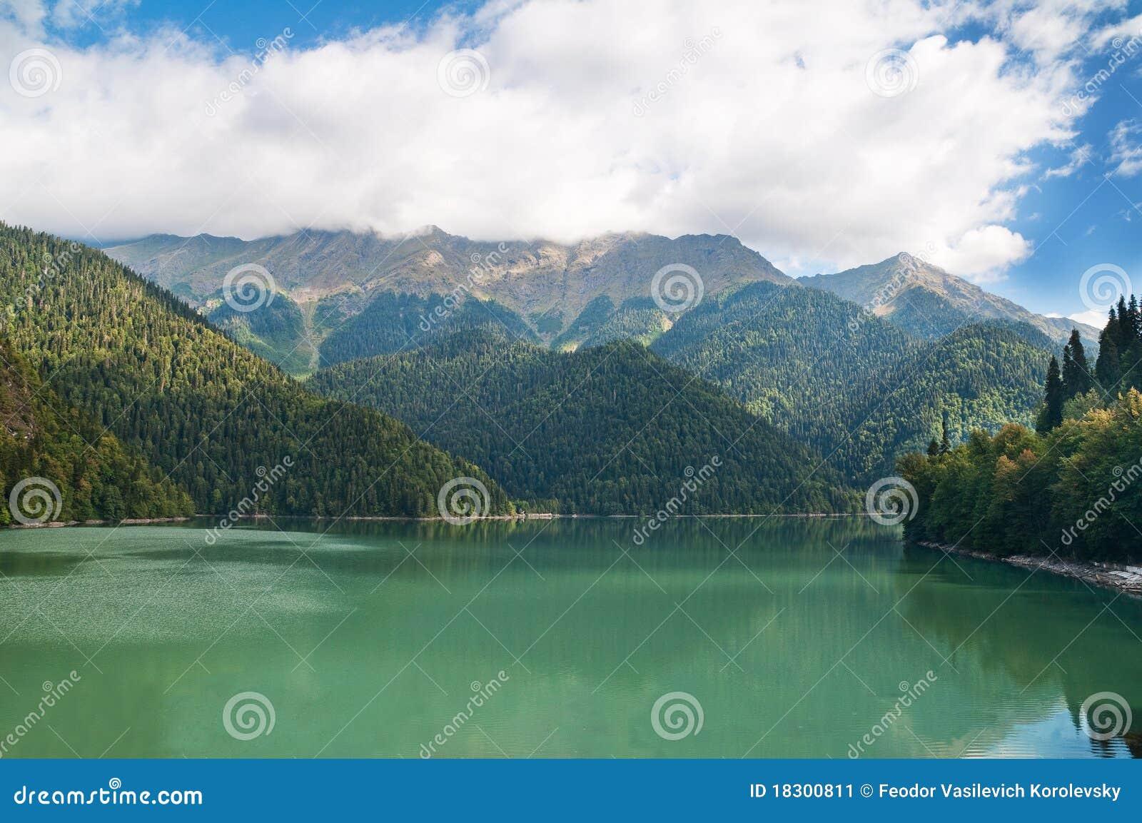 Lake Ritsa. Abkhazia. Stock Image - Image: 18300811