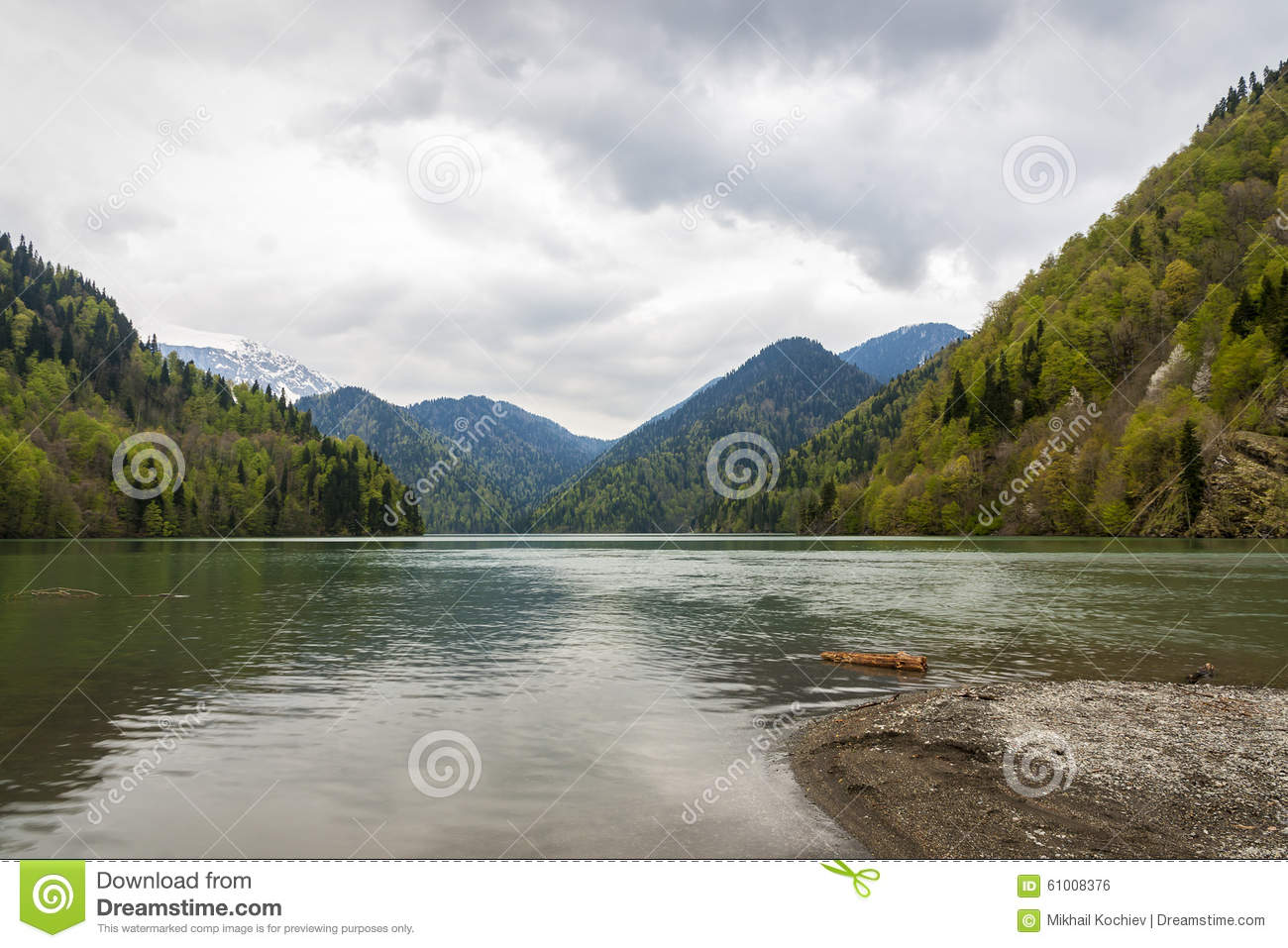 Lake Ritsa In Abkhazia Stock Photo - Image: 61008376