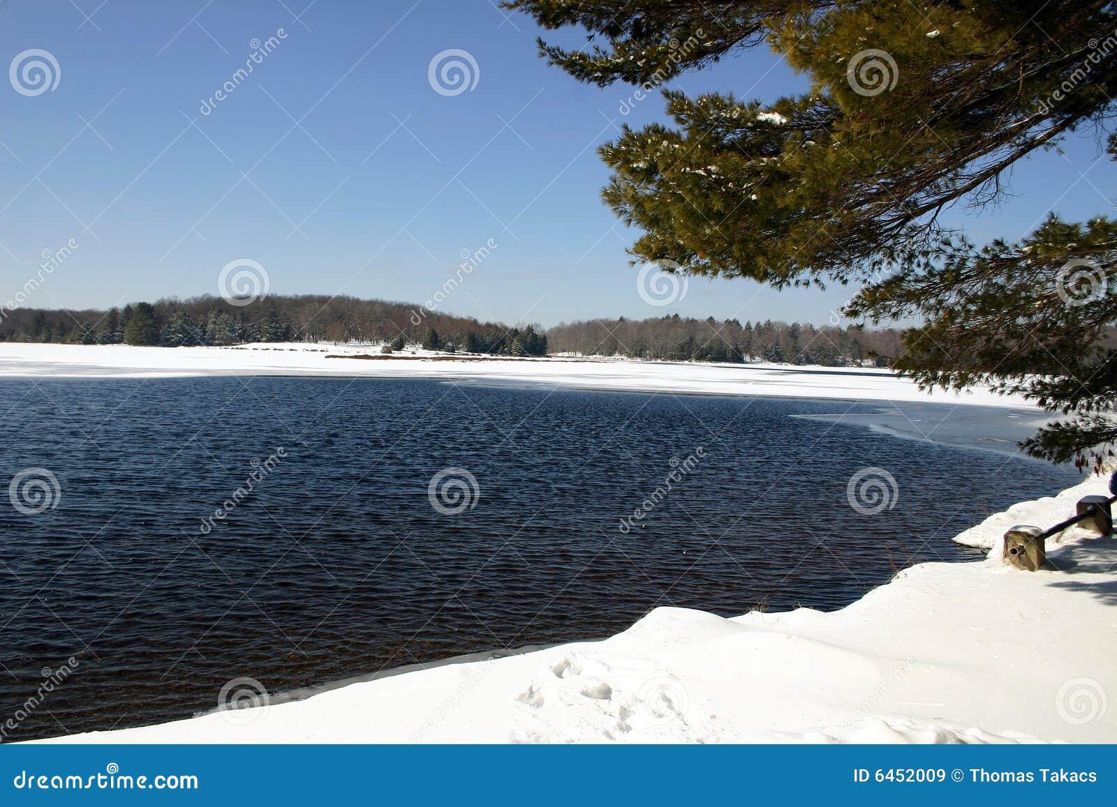 Lake sceny zima