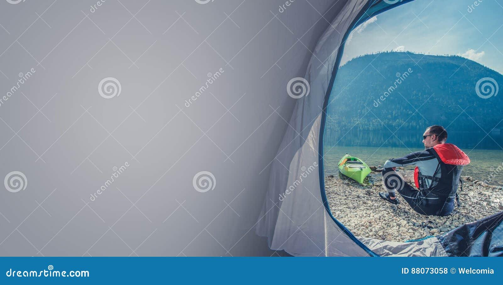 Lake Shore Camping with Kayak