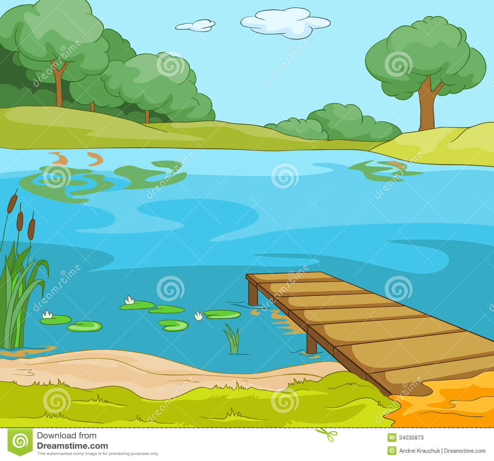 Lake shore stock photos image 34030873 for Lago disegno