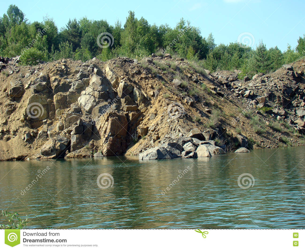 Quarry lake royalty free stock photo for Landscape rock quarry alberta