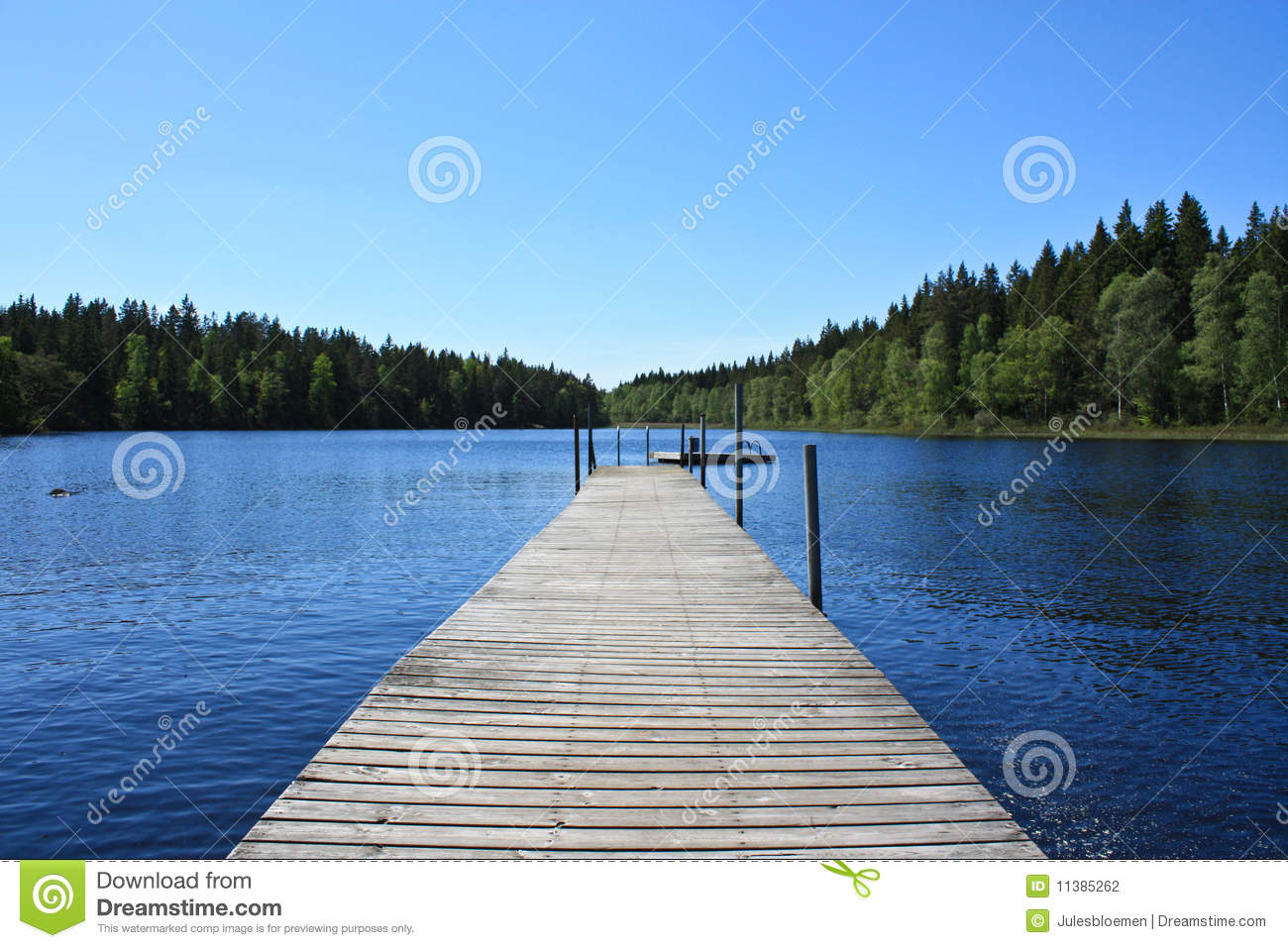 Download Lake in Sweden stock photo. Image of peaceful, woods - 11385262
