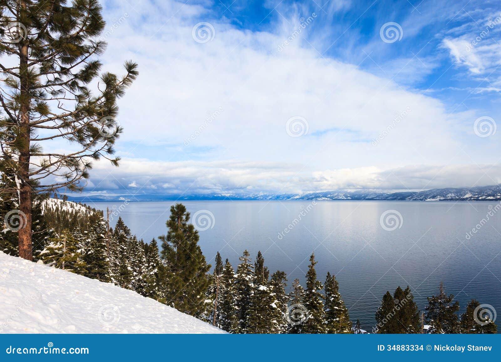 Lake Tahoe In Winter Stock Images Image 34883334