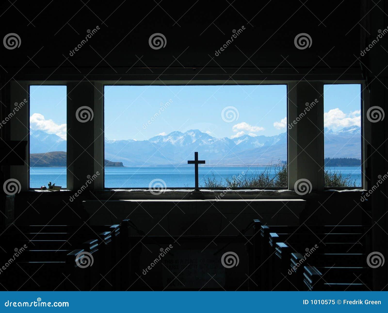 Lake Tekapo Church Window