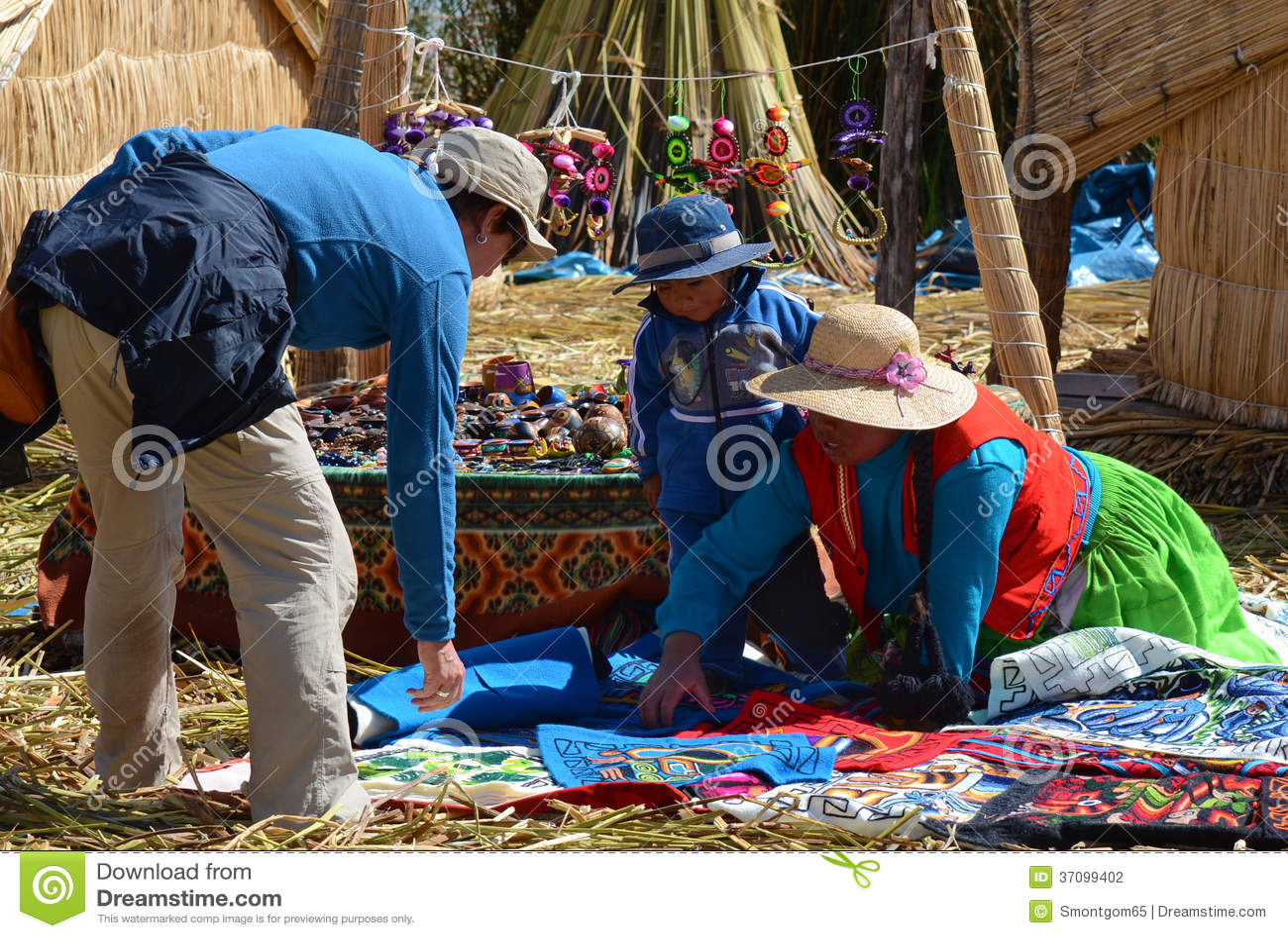 Lake Titicaca souvenir buying