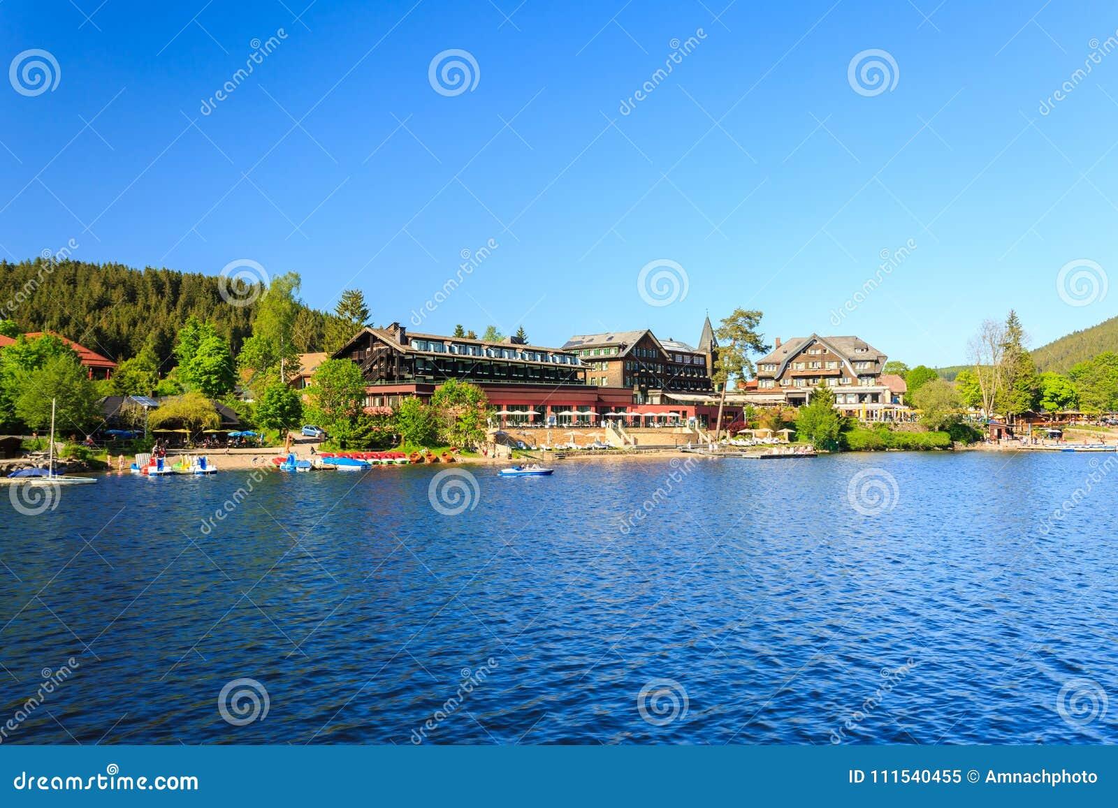 Lake Titisee Neustadt In The Black Forest Stock Image Image Of Neustadt Lake 111540455
