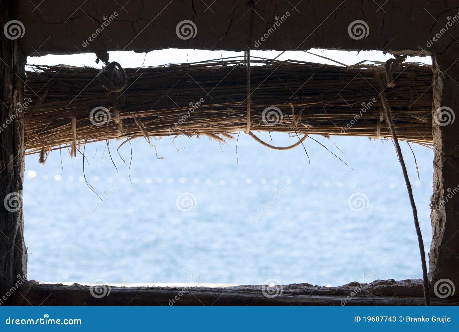 Lake View From Macedonian Log Cabin Stock Photos Image