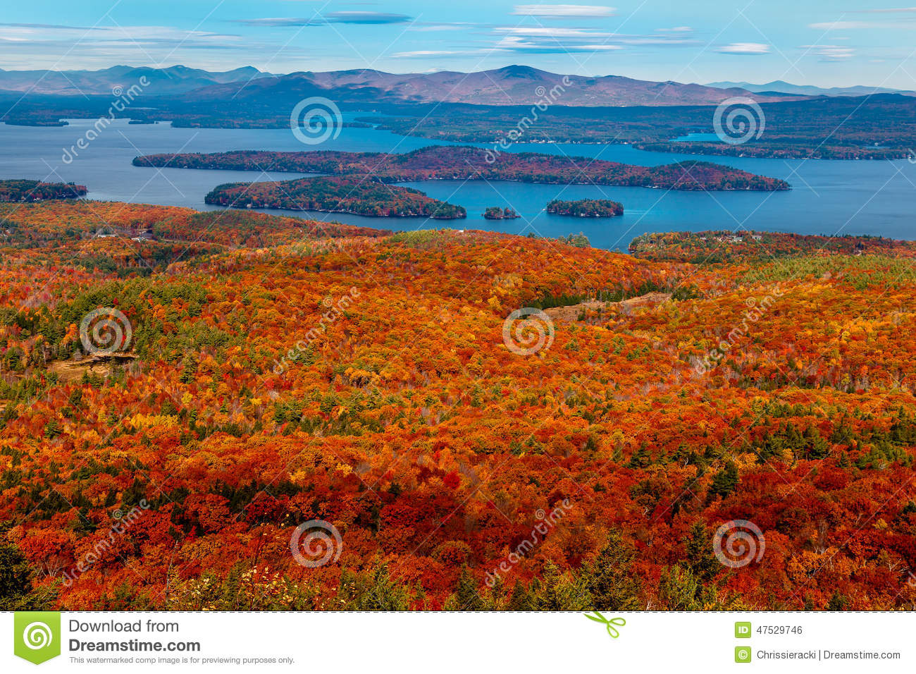 Lake view from Colorful Autumn Mountain