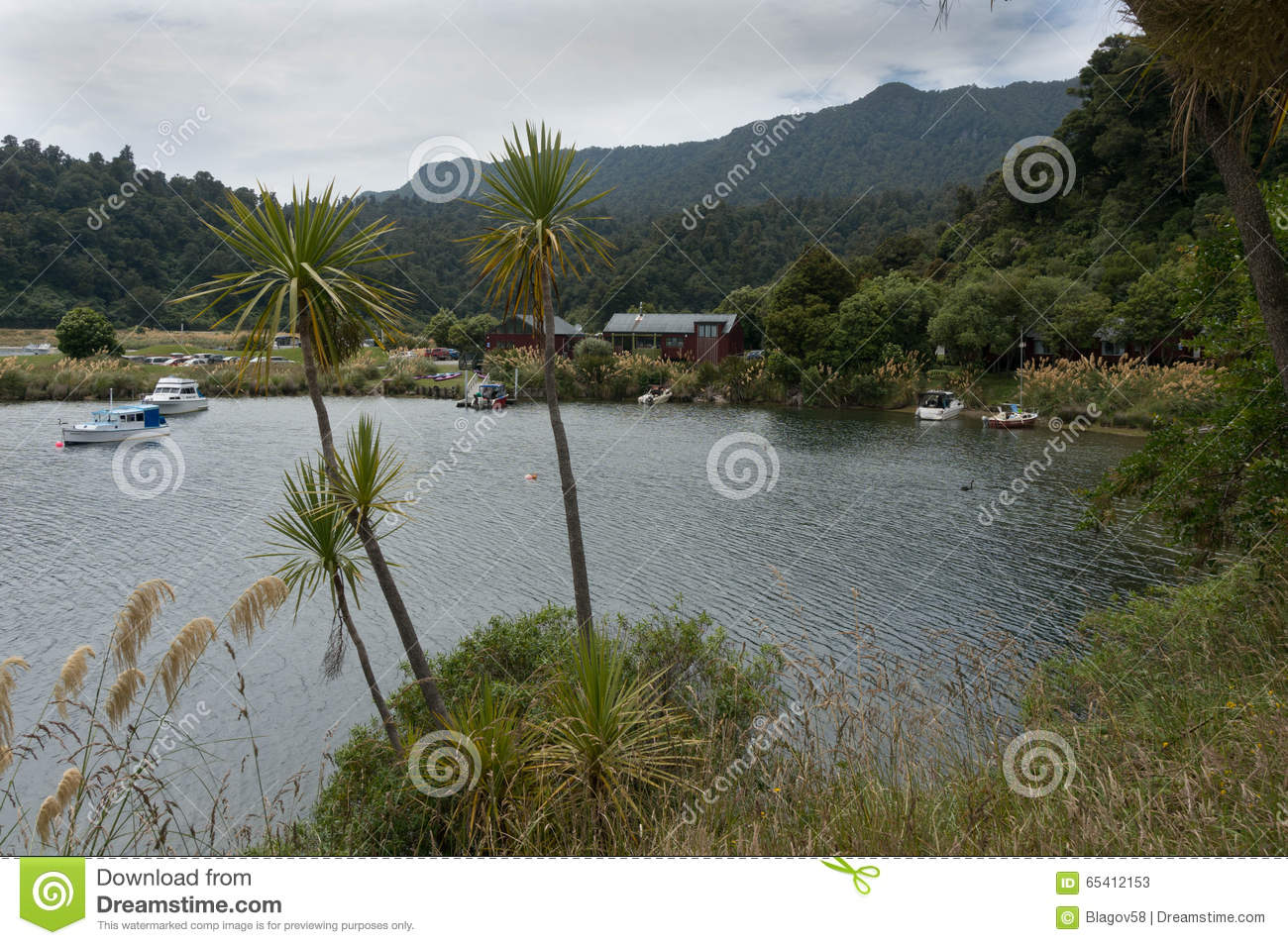 Lake Waikaremoana Holiday Park Editorial Stock Photo - Image