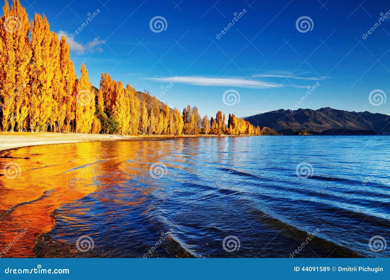New Zealand Time Image: Lake Wanaka, New Zealand Stock Photo