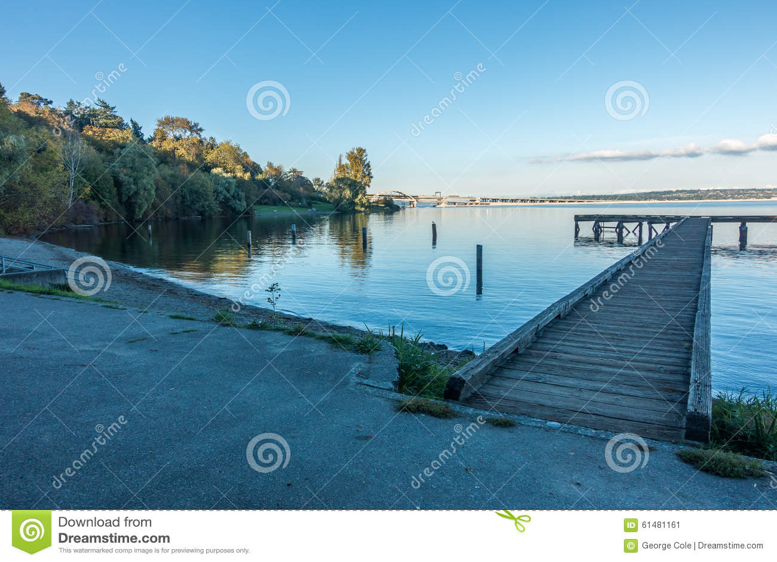 Lake washington pier stock photo image 61481161 for Seattle fishing pier