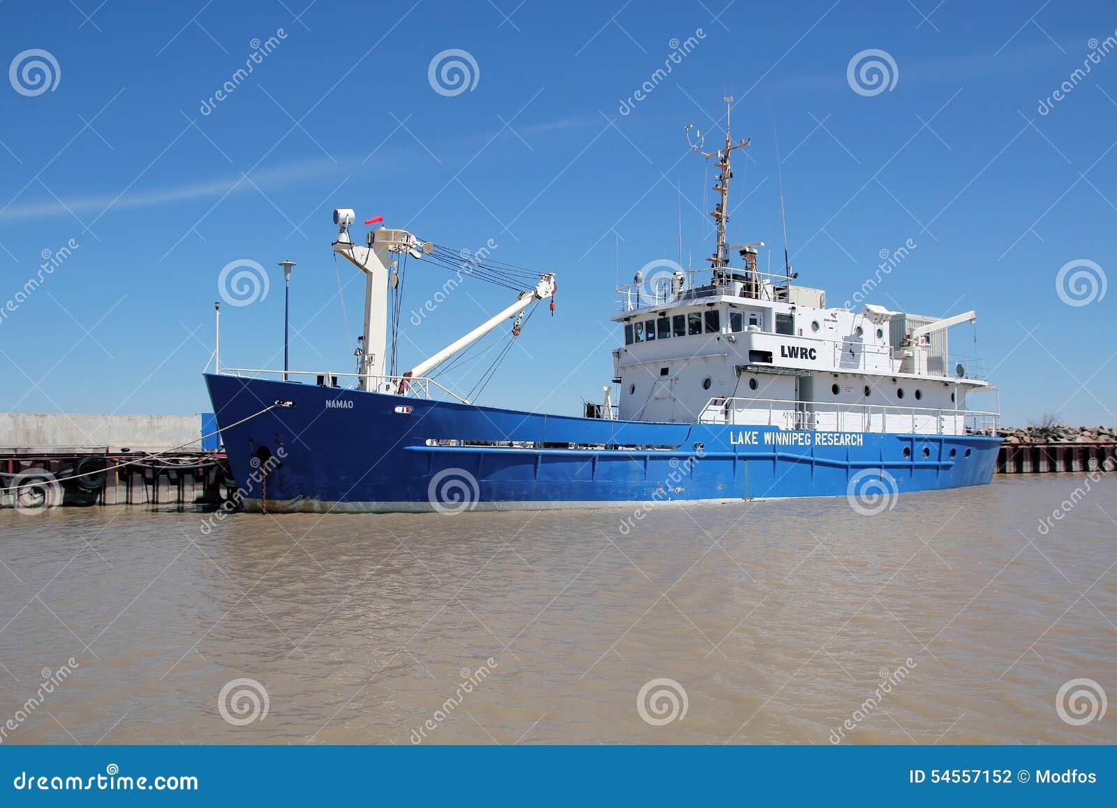 Lake winnipeg research vessel editorial photography for Lake winnipeg fishing report