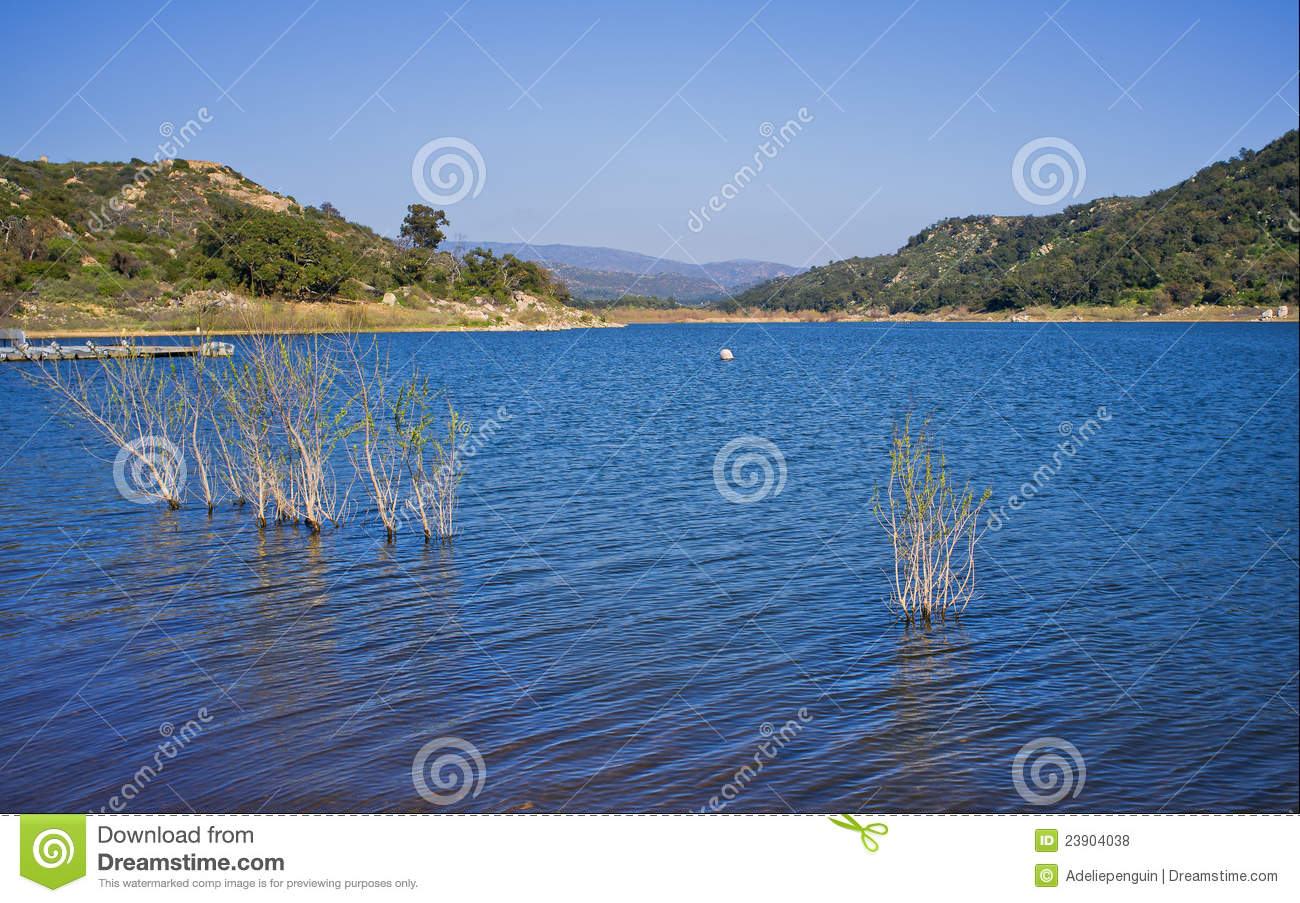 Lake wohlford san diego county california stock photo for Fishing license san diego