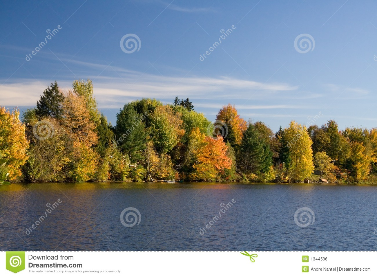 Lakefront in Fall