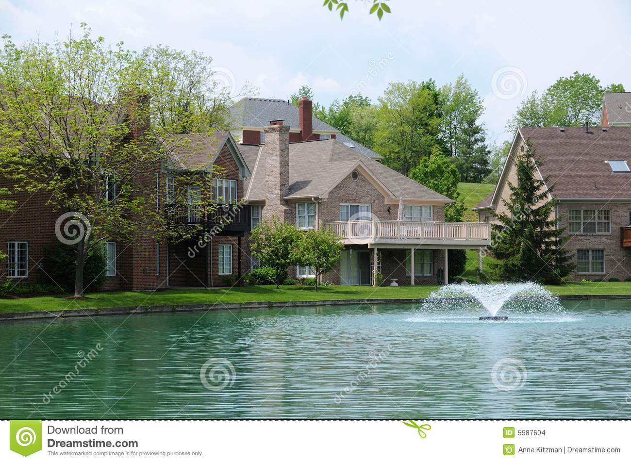 Lakefront Homes Stock Photo Image Of Lifestyle