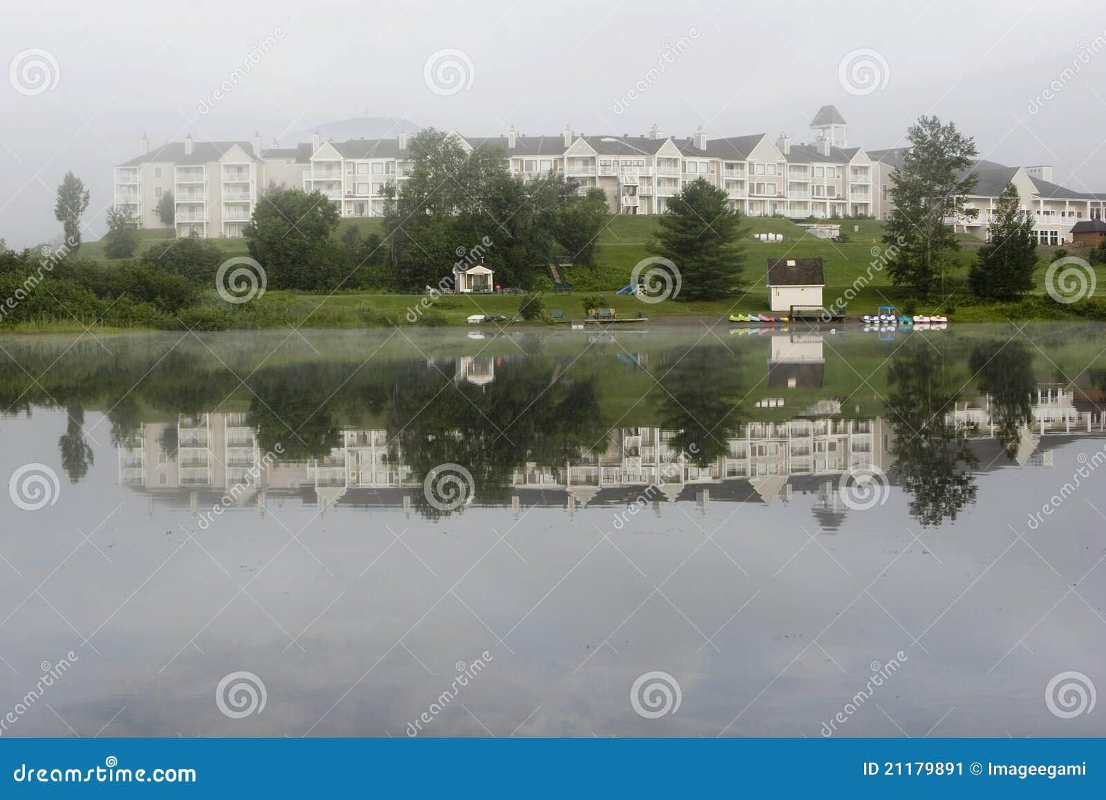 Lakefront hotel