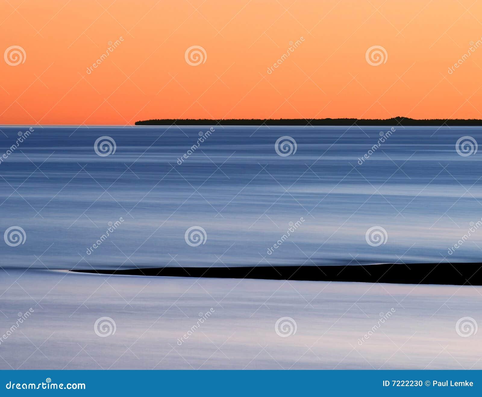 Lakemichigan solnedgång