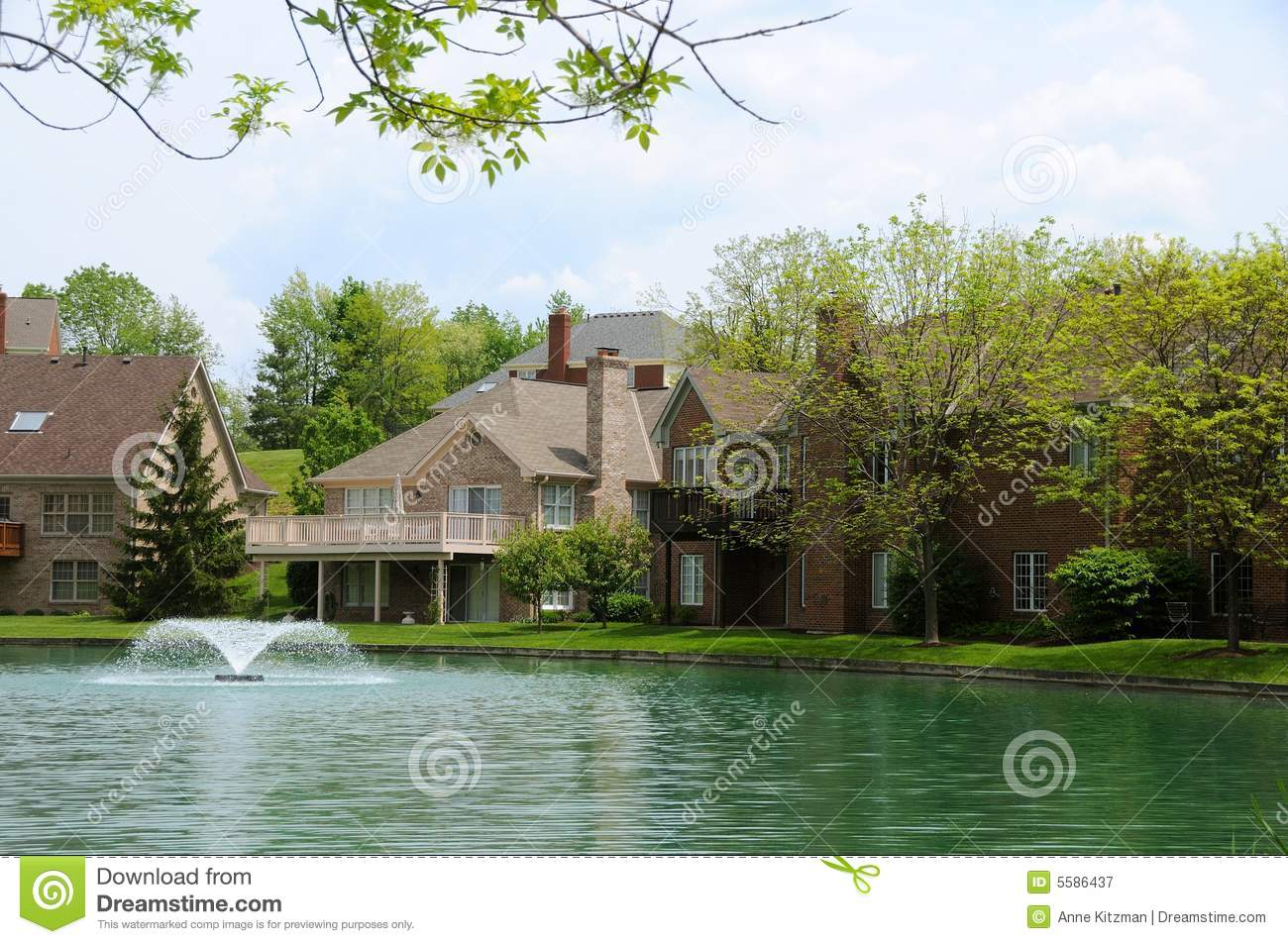 Lakeside homes stock image image of architecture nature for Lakeside home