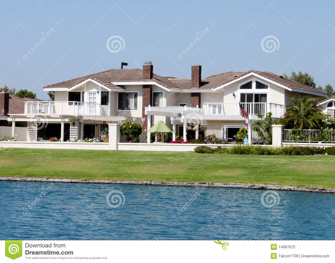 Sensational Lakeside House 2 Royalty Free Stock Photo Image 14997675 Largest Home Design Picture Inspirations Pitcheantrous
