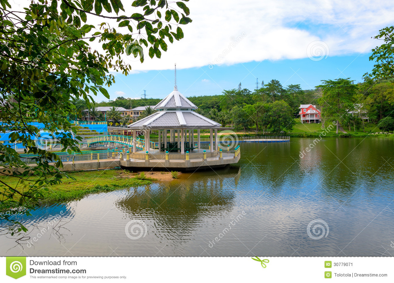 Lakeside house stock image image of china blue for Lakeside home