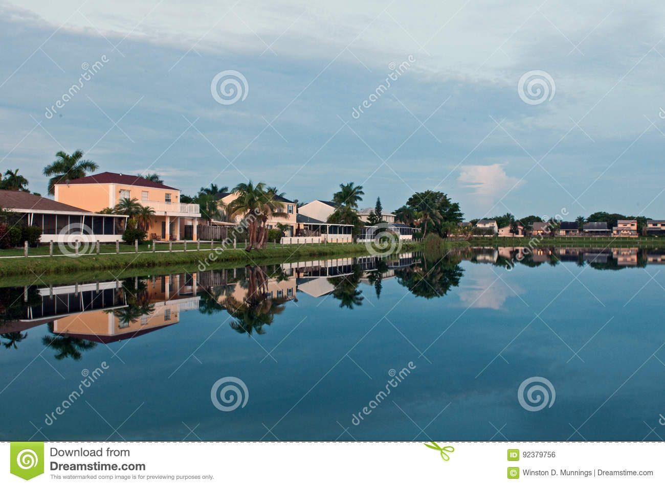 Download Lakeside Living Stock Photo. Image Of Lakeside, Water   92379756