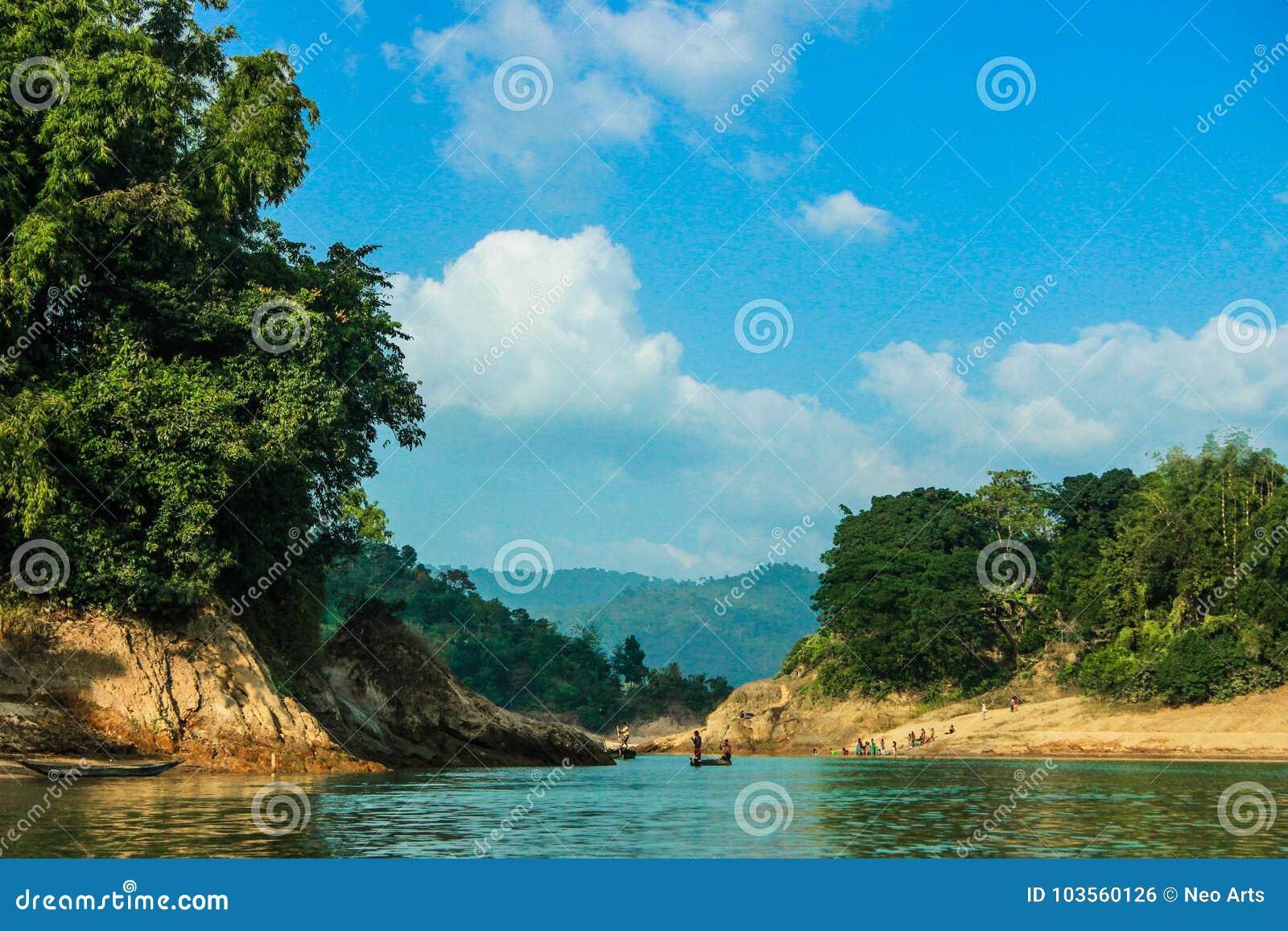 Lala Khal Natural Canal In Sylhet, Bangladesh Stock Photo