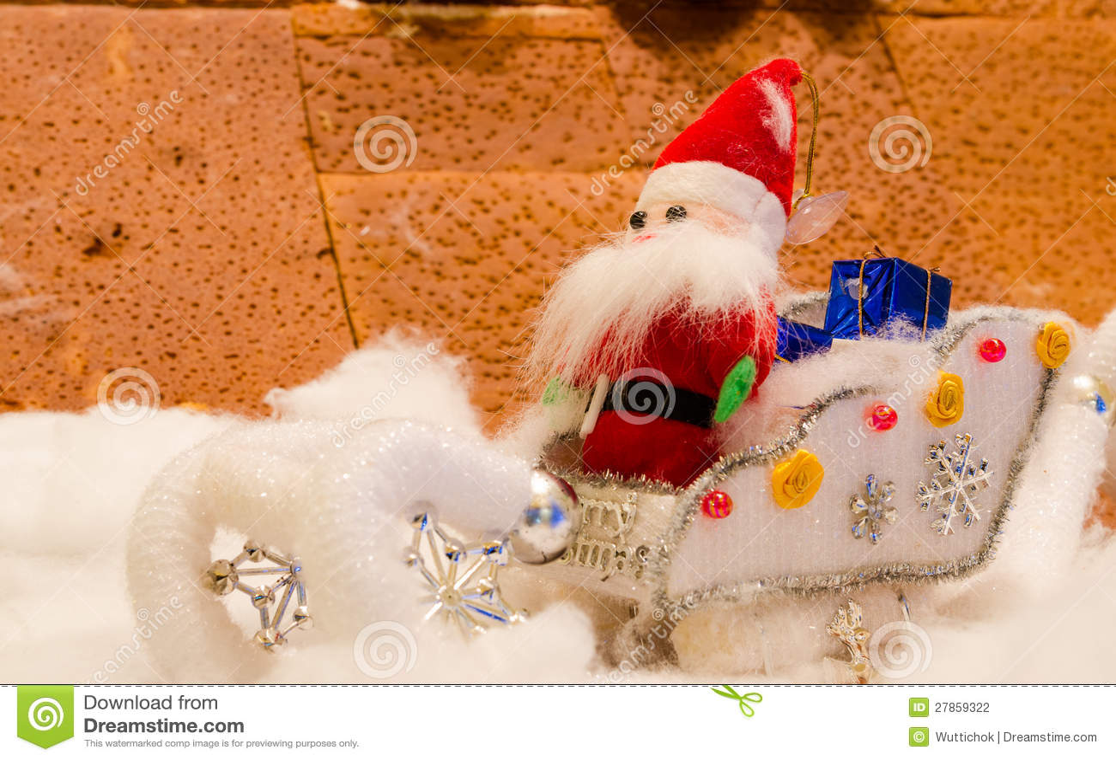 Lali tkanina Santa w śniegu