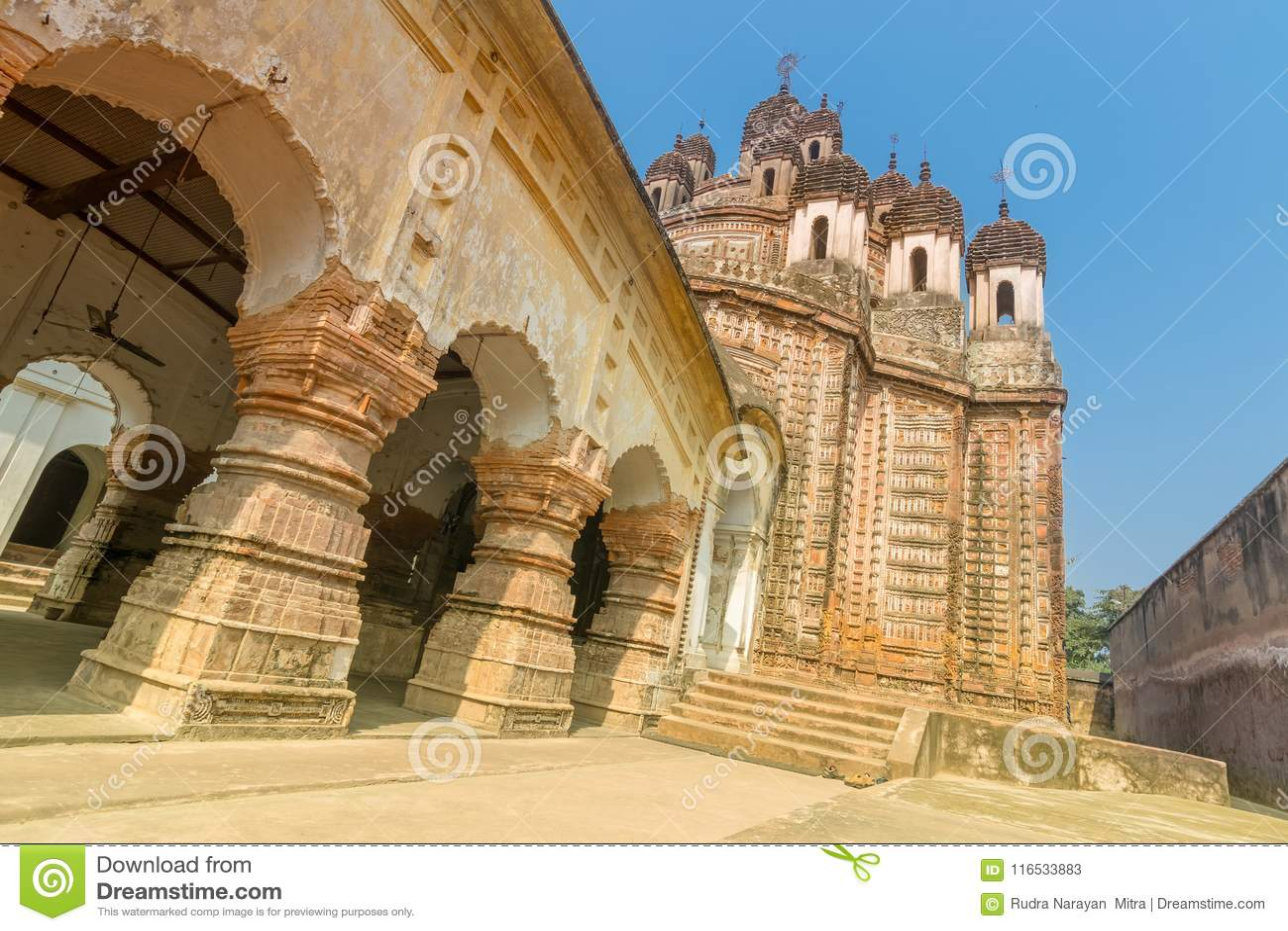 Lalji temple, Kalna stock image  Image of monument, hinduism