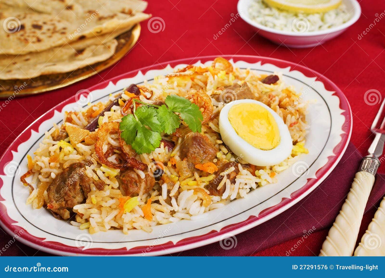 Lam biryani stock foto afbeelding bestaande uit geel 27291576 - Hoek maaltijd ...