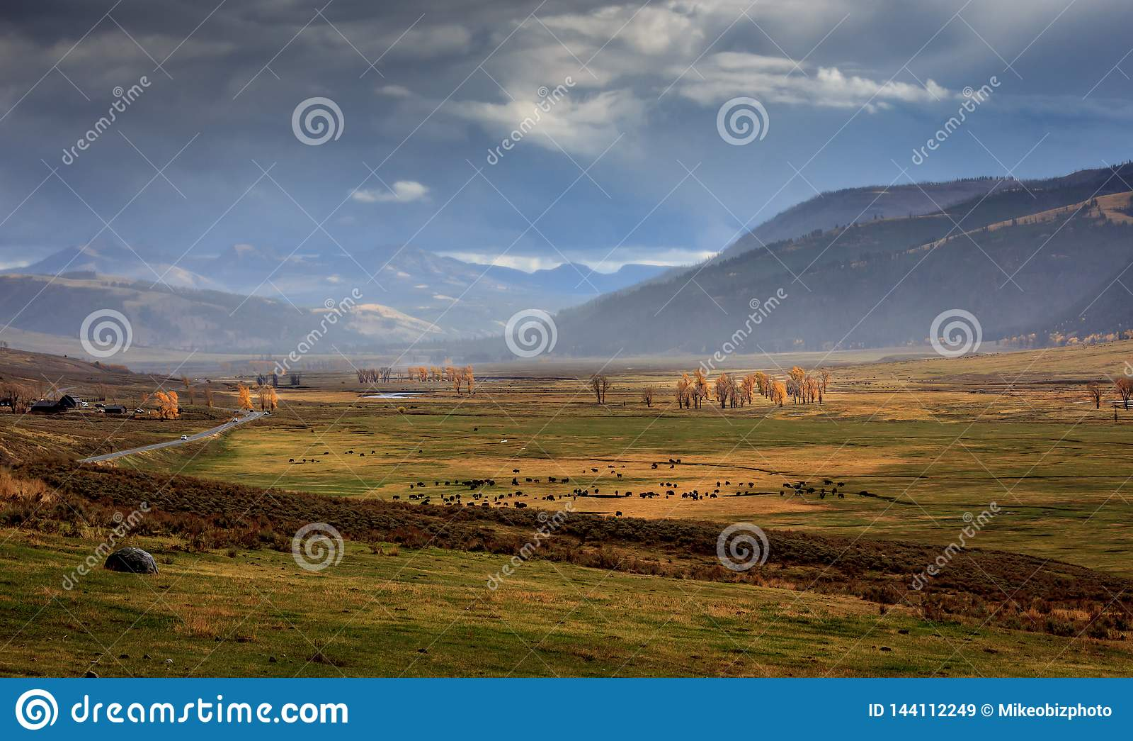 Lamar Valley tempestoso in Yellowstone