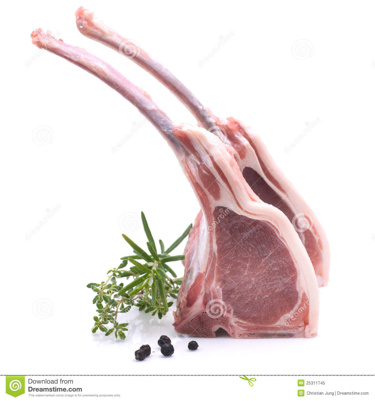 Lamb chop stock image. Image of roast, meat, lamb, rosemary - 25311745 for Raw Lamb Chop  150ifm